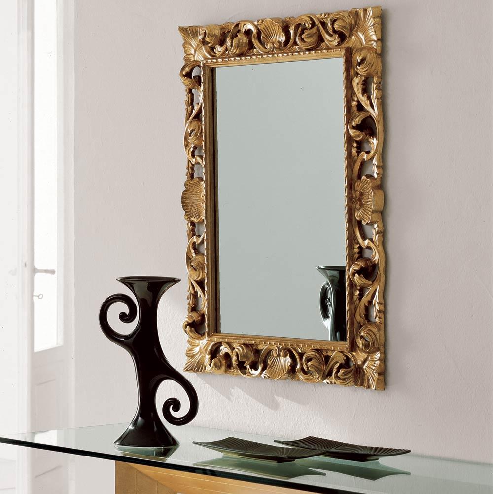 Как украсить квадратное зеркало